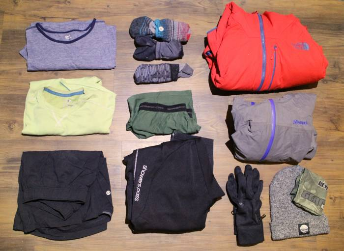 apparel for backpacking