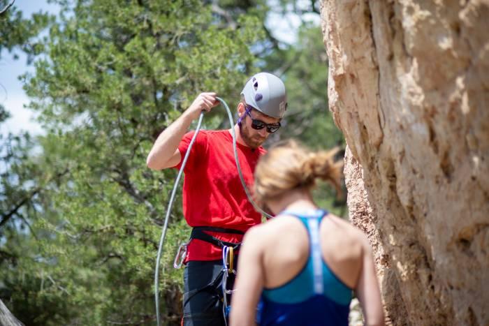 sport climbing rope work