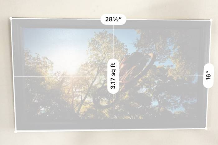 Apple iOS Measure App also measures rectangles and area