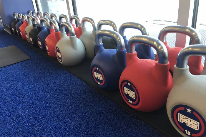 F45 workout kettlebells