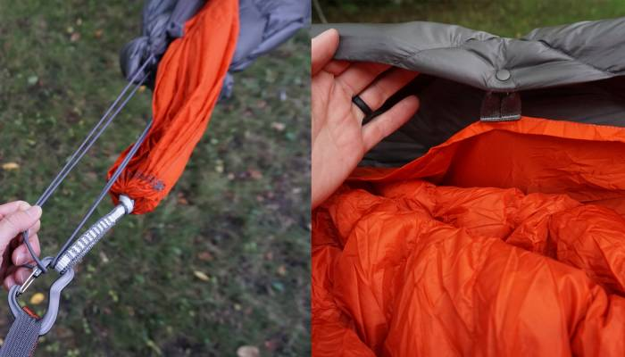 Kammok Bobcat Hammock Underquilt Cord and Snaps