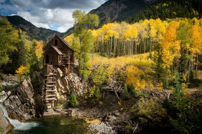 Crystal Mill Colorado's most photographed spot