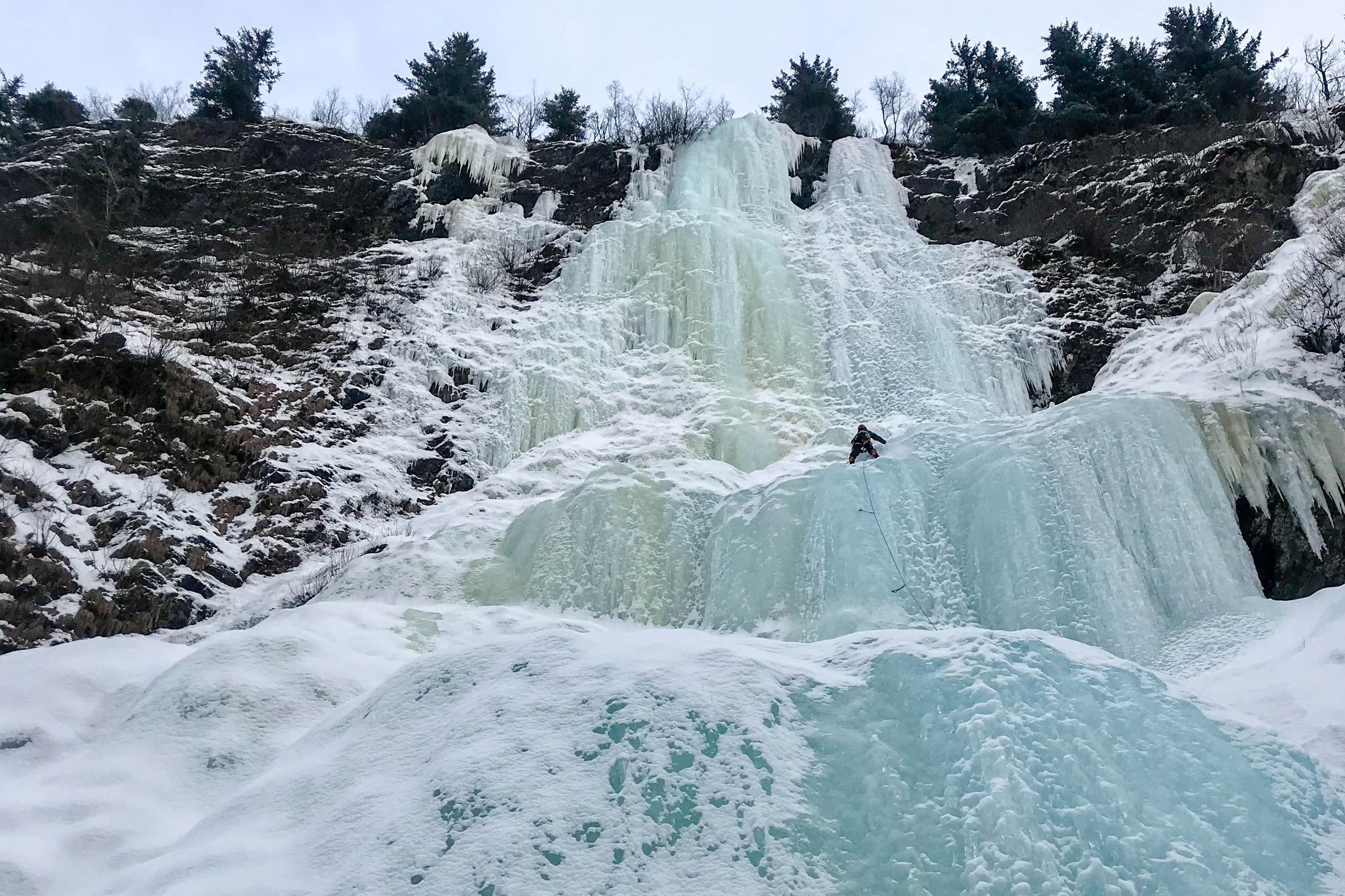Ice climbing in Dynafit TLT Speedfit Ski Touring boots