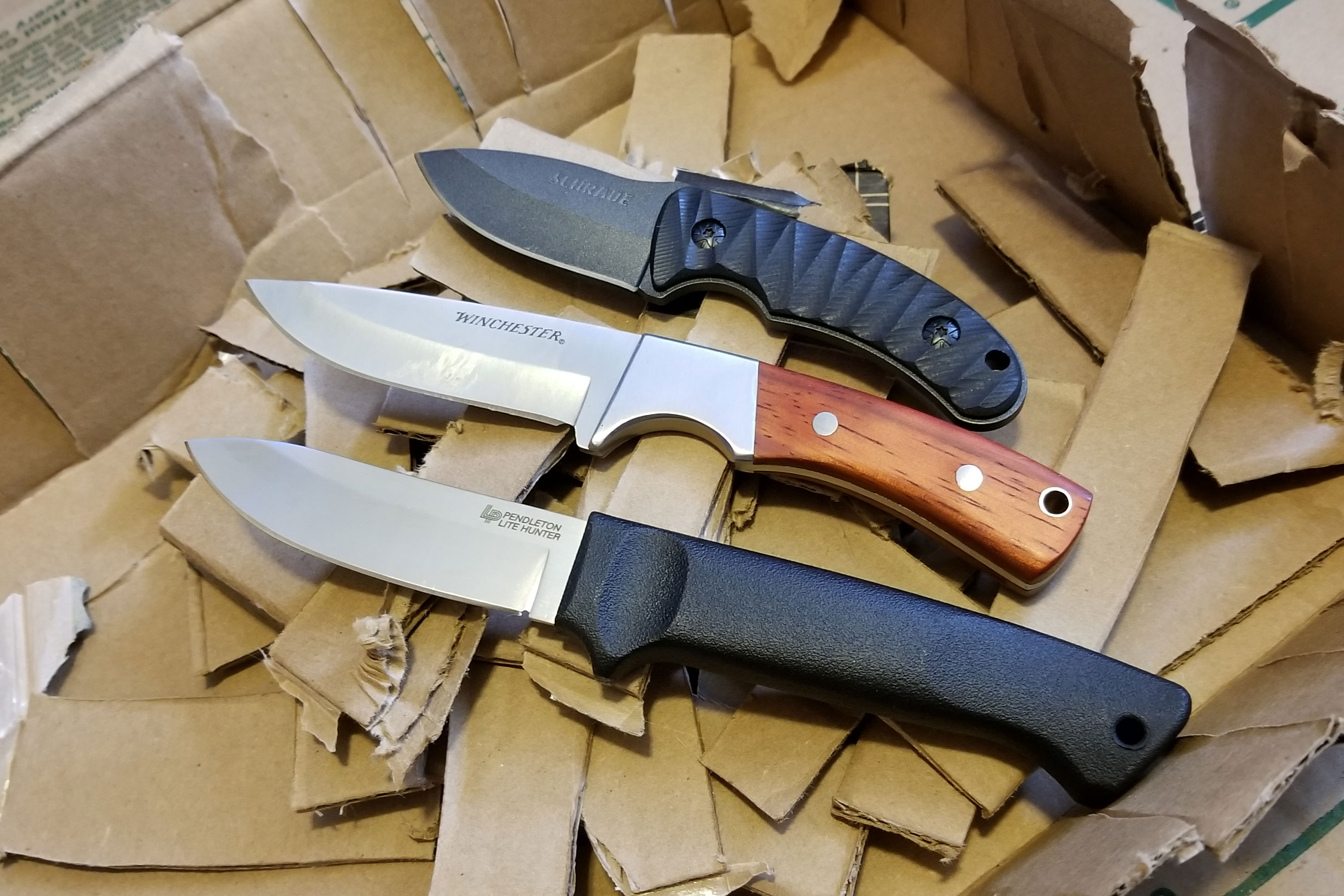 Cardboard test: Under $20 fixed-blade knives