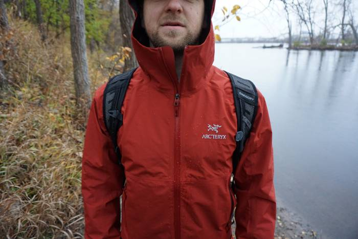 Arc'teryx Zeta SL Red Jacket River Hike