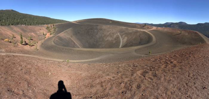 panoramic view at the top of Cinder Cone