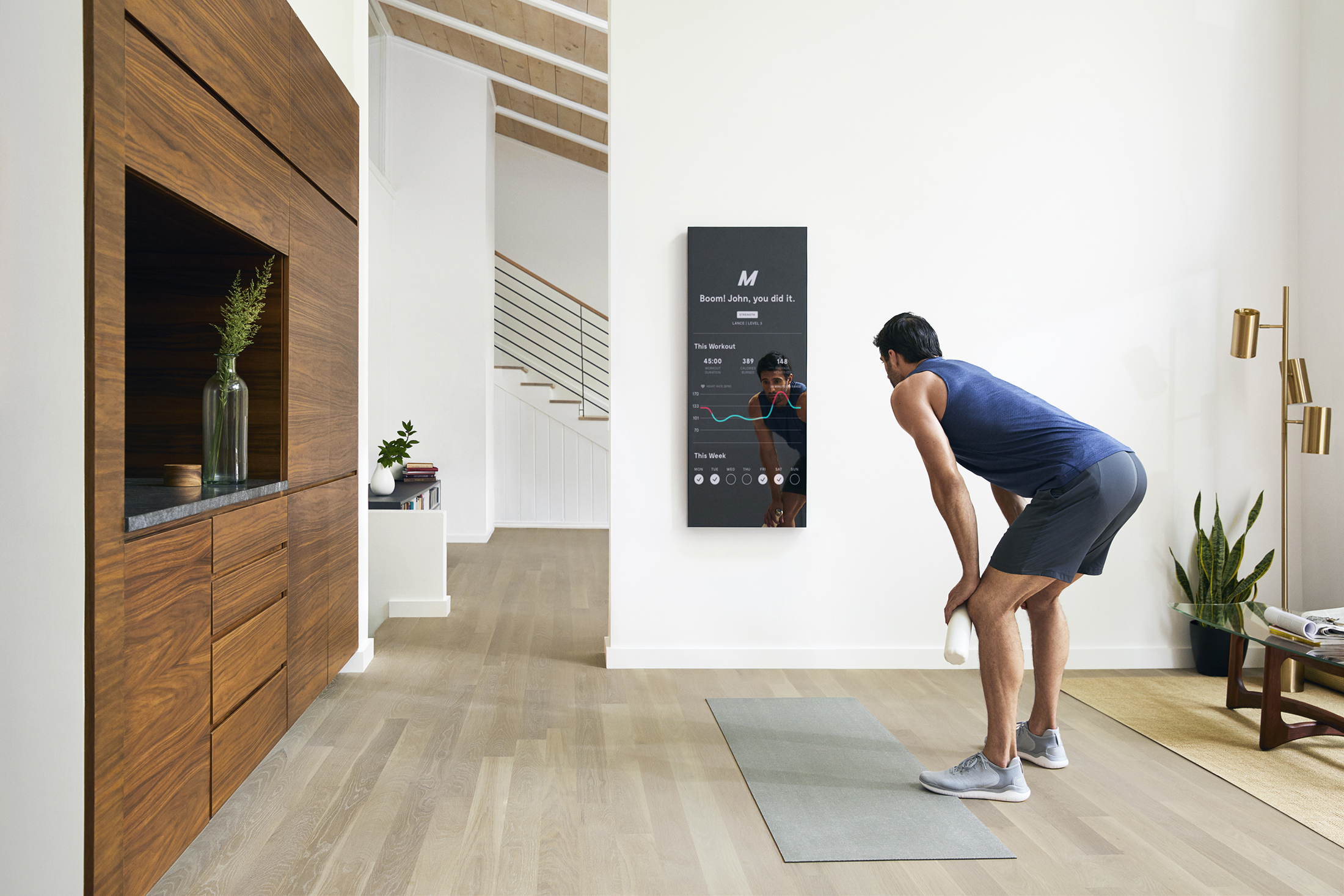 Work out in front of mirror a futuristic at home gym gearjunkie
