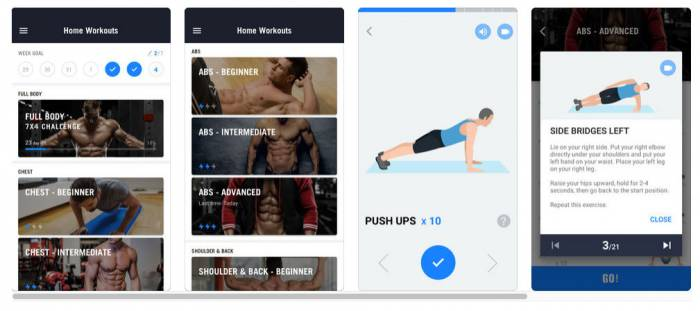 No-equipment-fitness-app