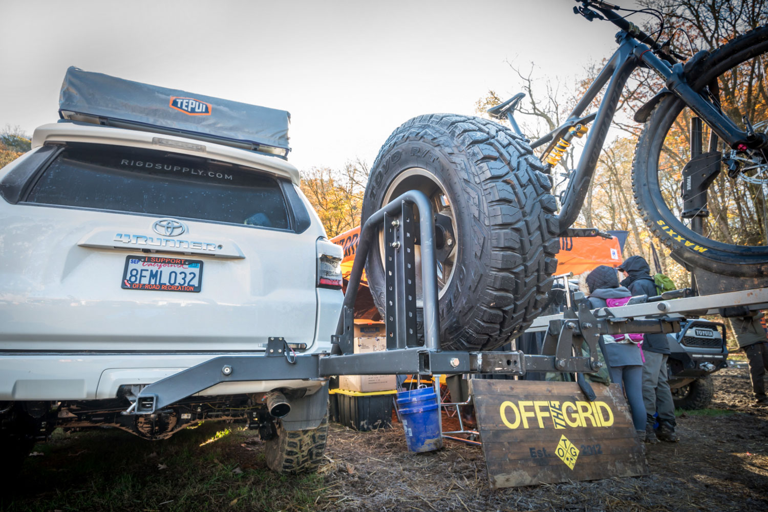 Overland Expo East RIGd UltraSwing Hitch Rack