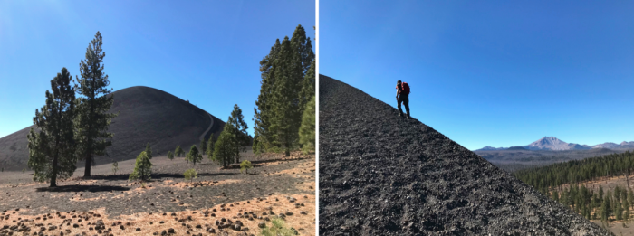 Hiking up Cinder Cone in Lassen Volcanic National Park