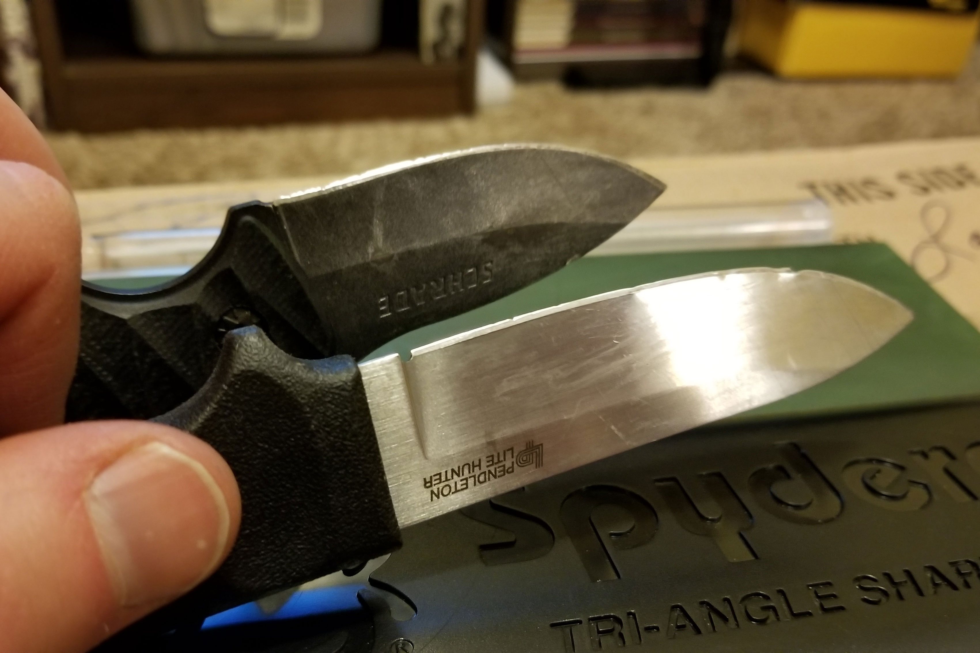 Sharpening cheap fixed-blade knives