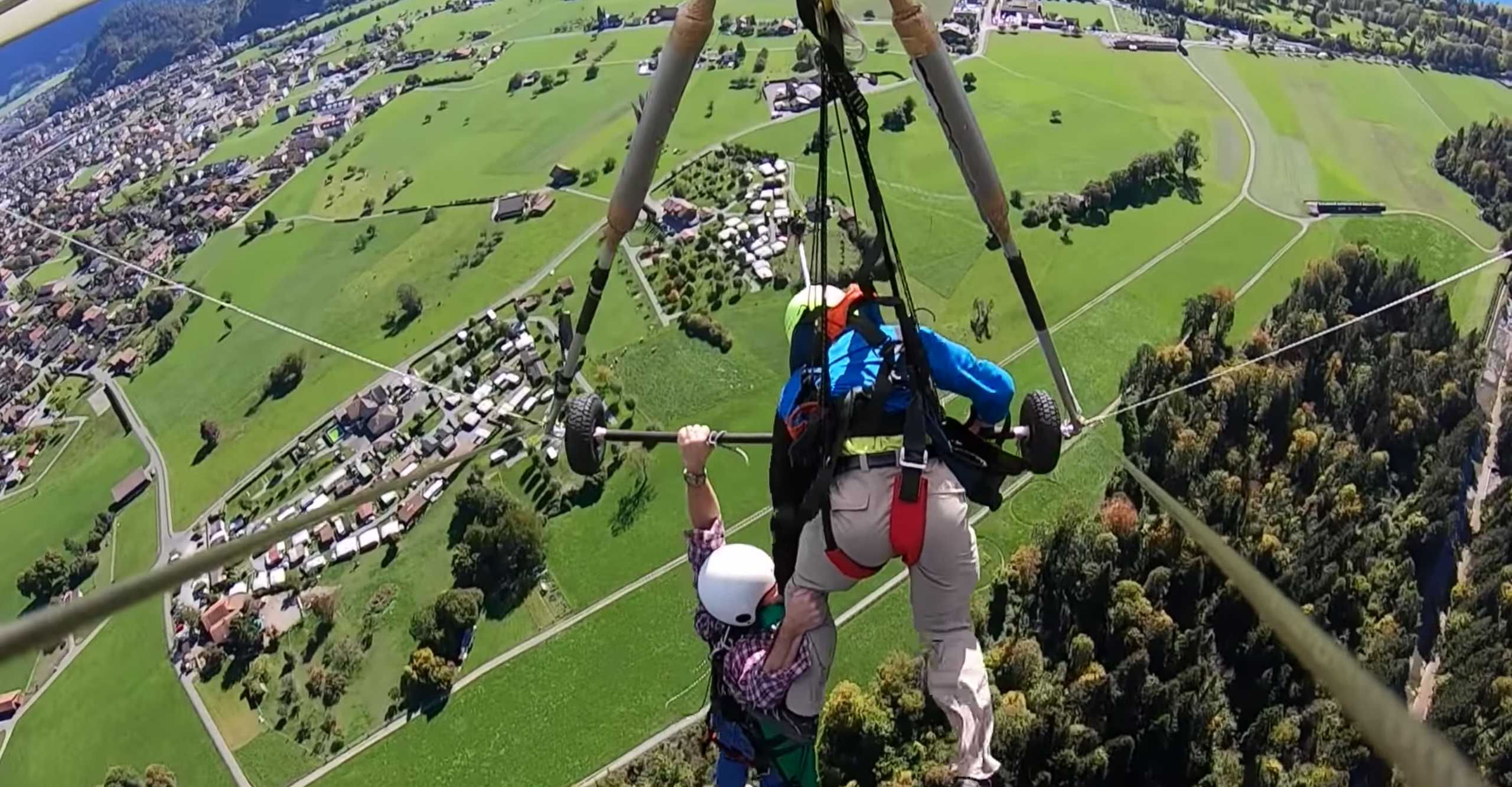 Wow! Hang-Glider Jumps Unconnected, Hangs on for Life   GearJunkie