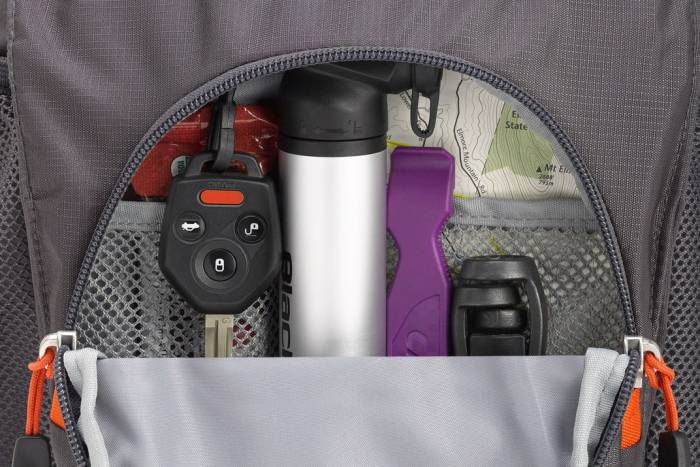Hydrahike organizer pocket