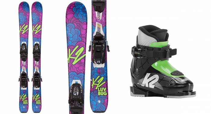 K2 Luv Bug Kids Skis and Boots