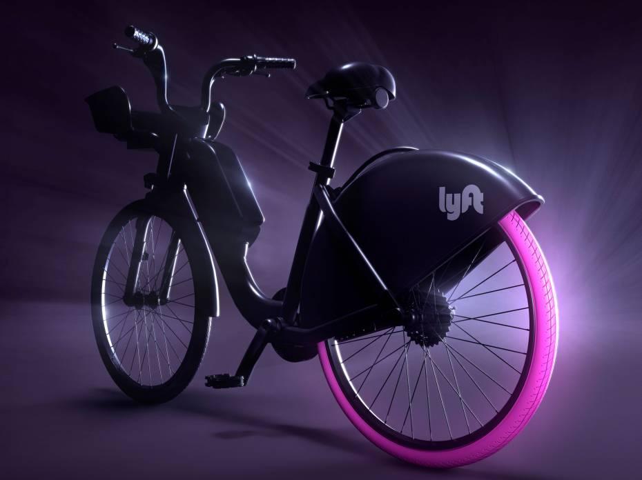 Lyft rideshare bike