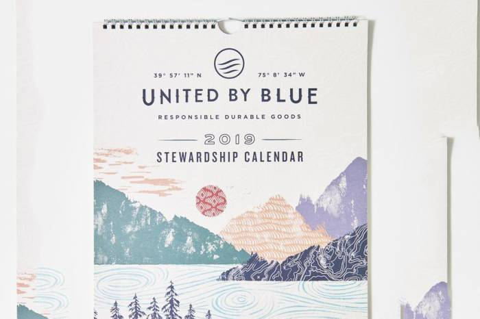 United By Blue Calendar