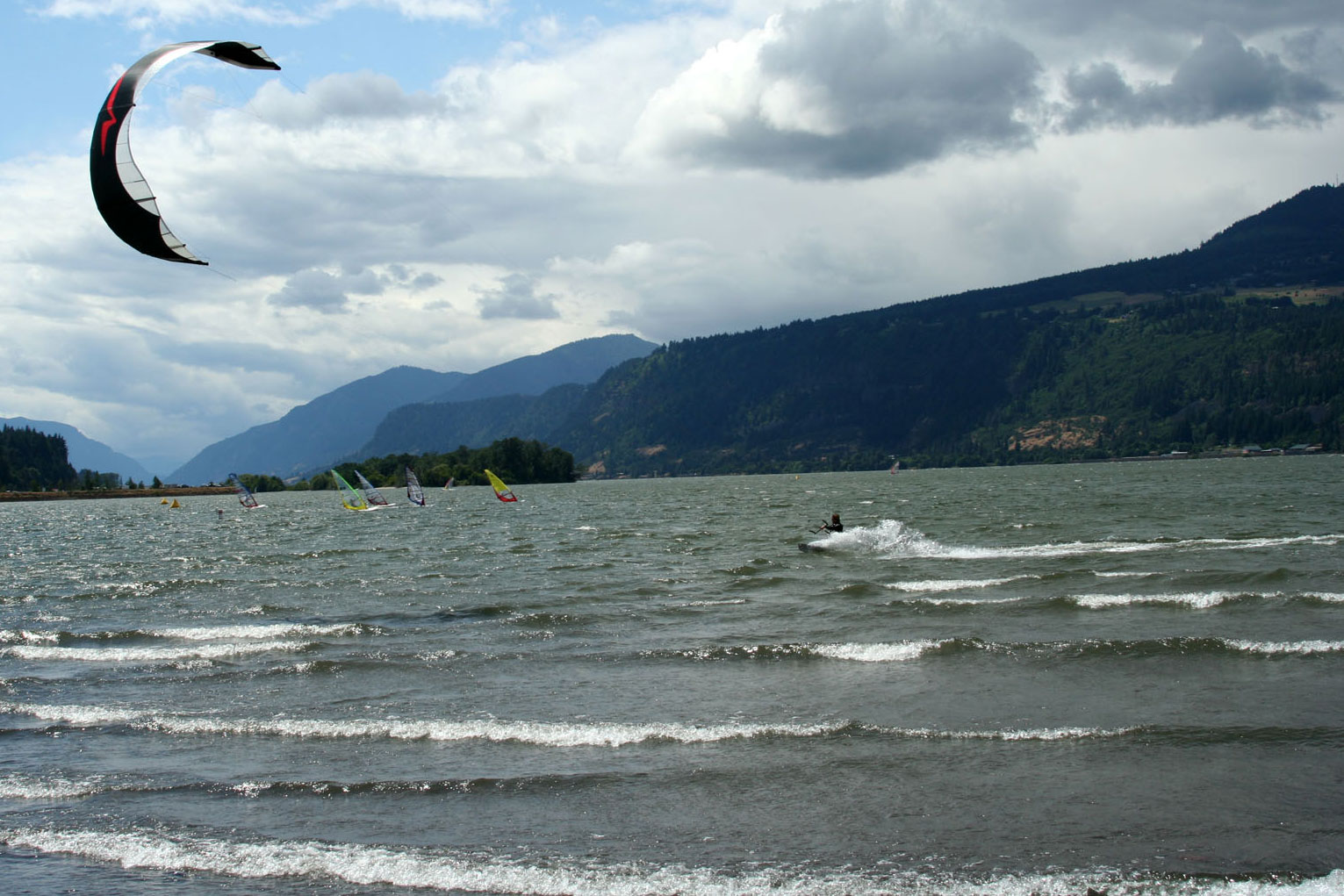 Columbia River Gorge kiteboarding