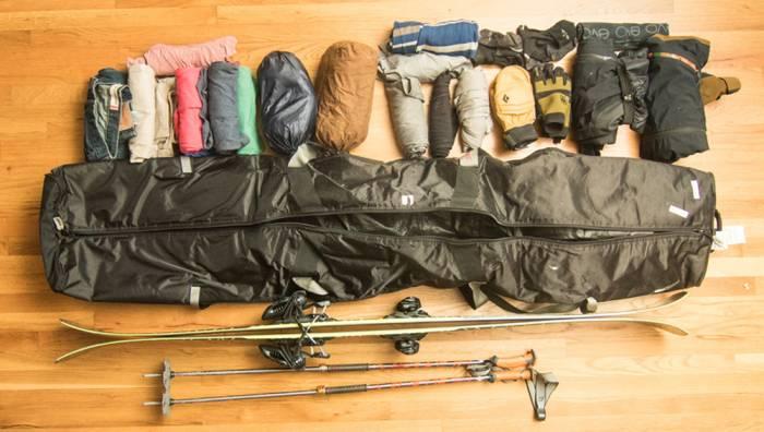 evo japan ski trip packlist