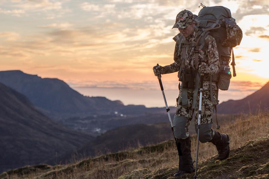 Hunter Hiking in Sitka Gear