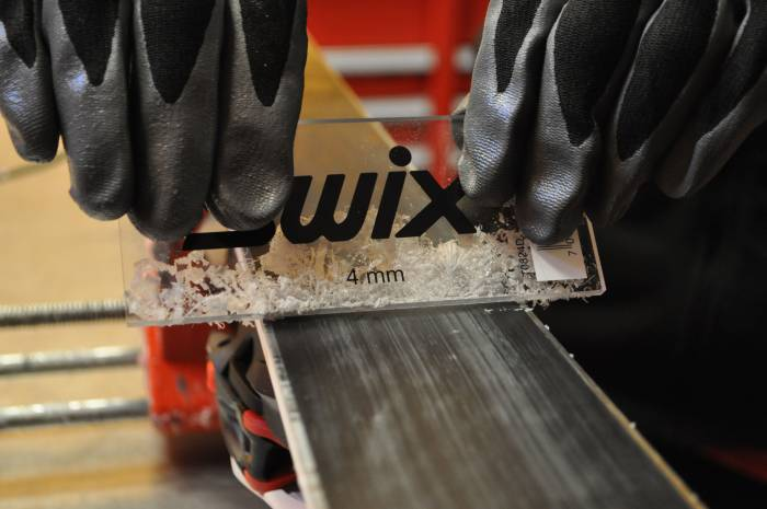 DIY Early Season Ski Wax Shaving