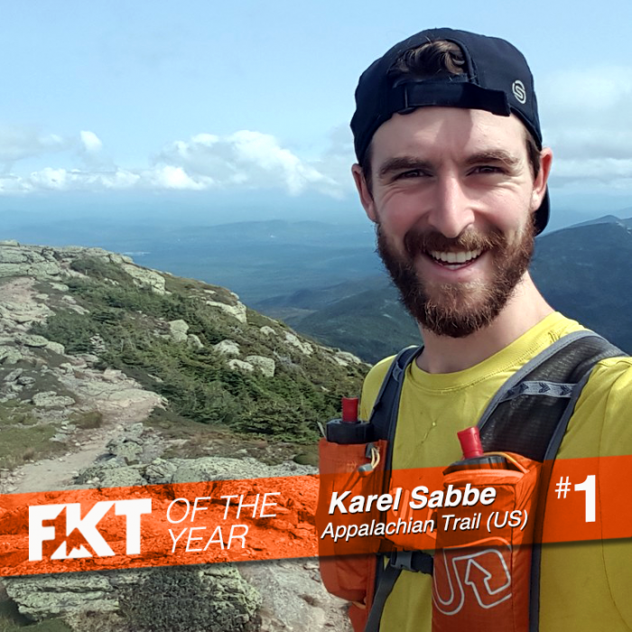 Karel Sabbe FKT of the Year Appalachian Trail