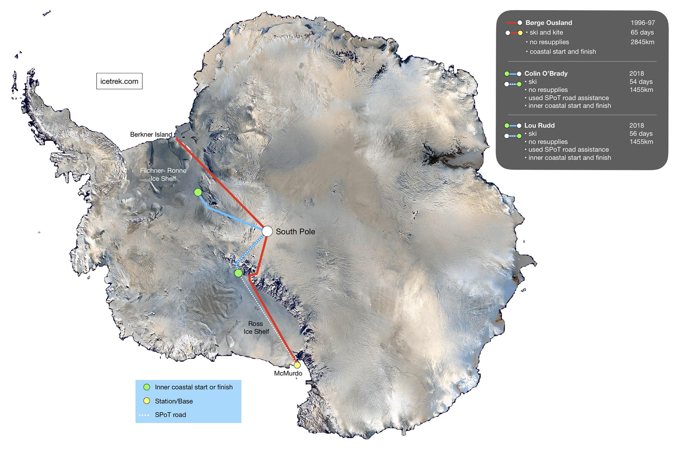 O'Brady Antarctic route