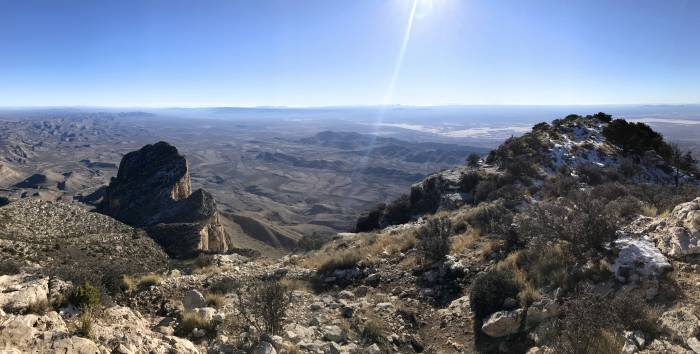 panoramic view from top of Guadalupe Peak