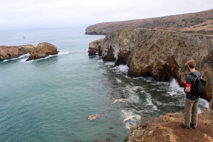 view of a cove on Santa Cruz Island