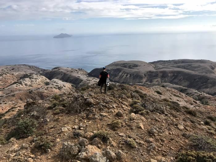off-trail exploration in Santa Cruz Island