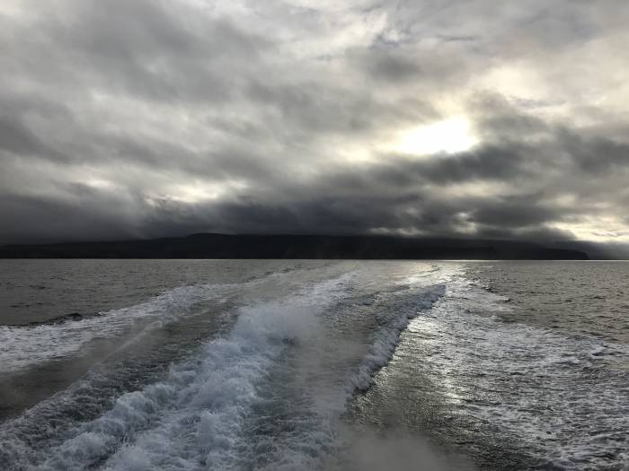 storm approaching Santa Cruz Island