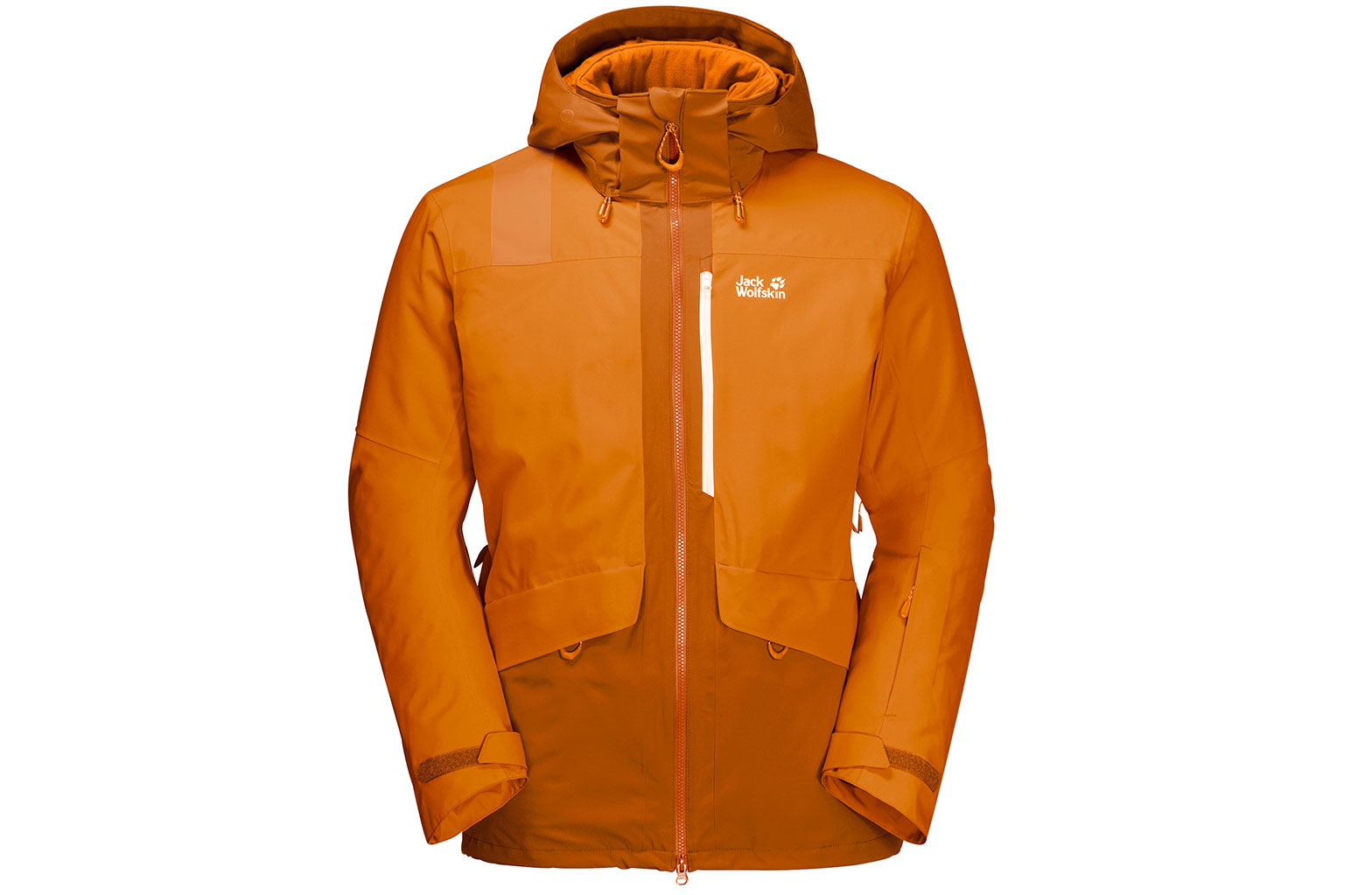 Jack Wolfskin Big White Jacket in Rusty Orange