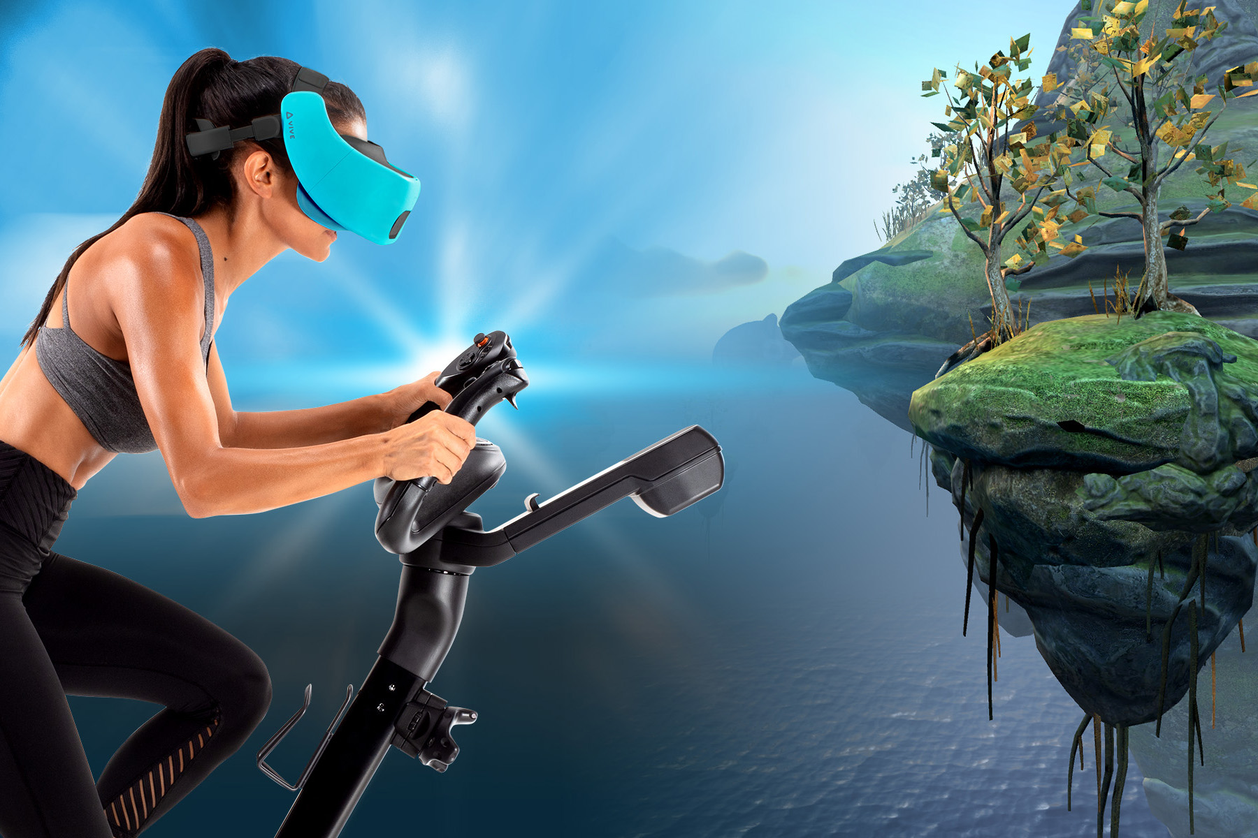 40ebbac2acbd Fitness   Fantasy Collide in NordicTrack s New Virtual Reality Bike Ride