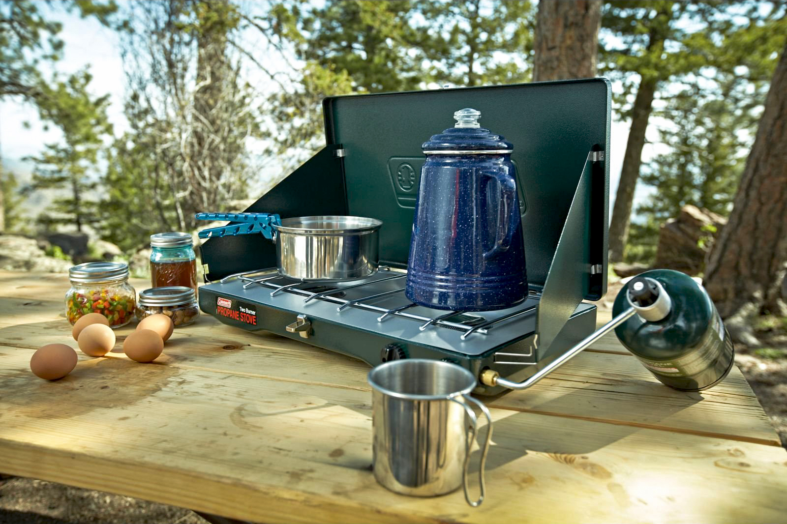 colemancoleman gas camping stove