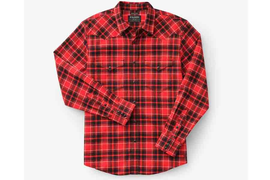 Filson Men's Western Flannel Shirt