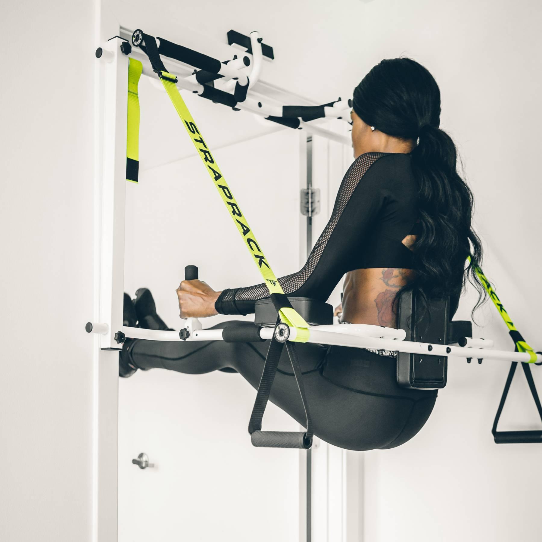 Fitness Junkie Gloves: StrapRack Door Frame Gym