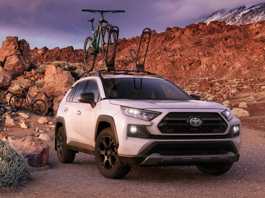 2020 Toyota RAV4 TRD Off-Road with bike rack