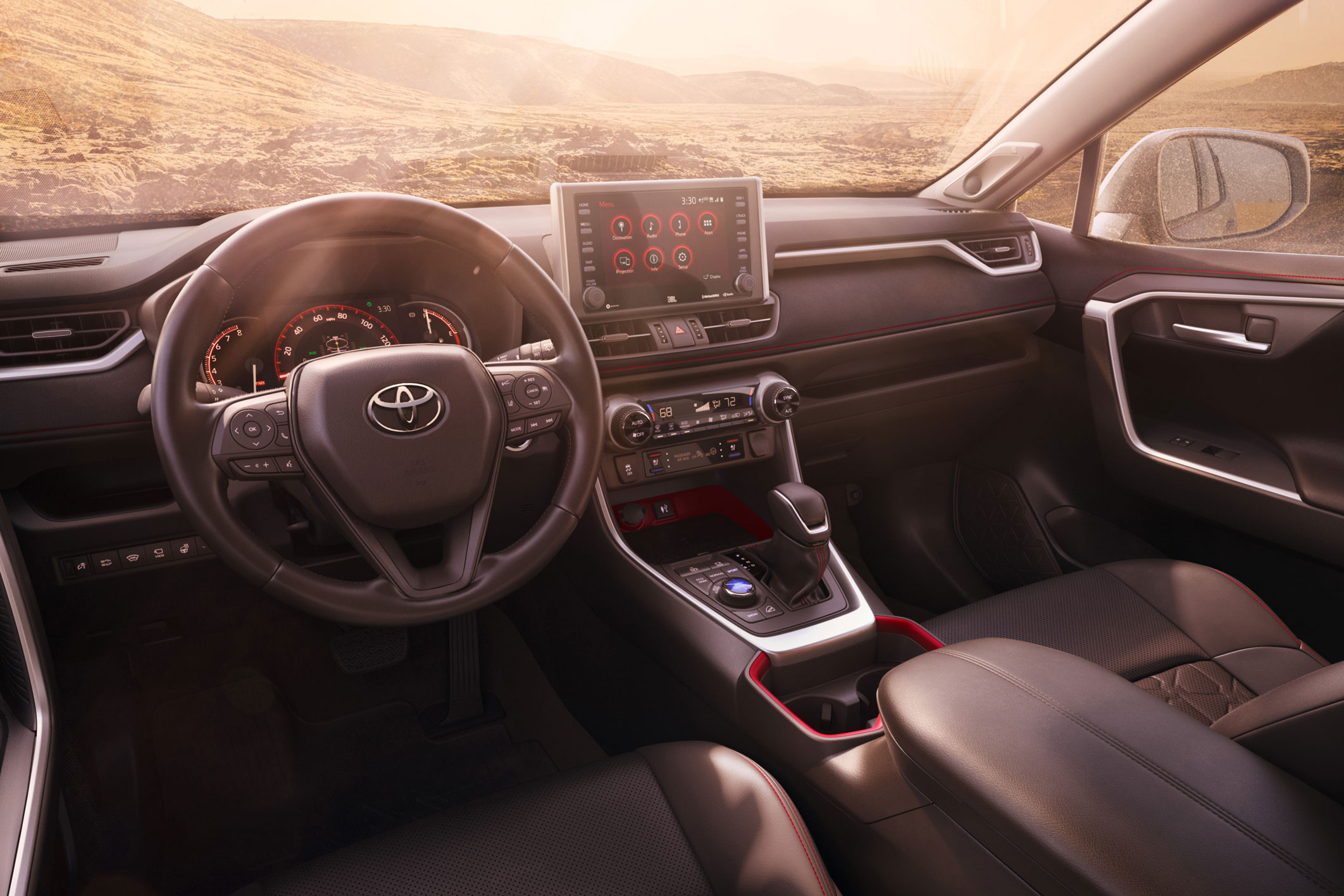 2020 Toyota RAV4 TRD Off-Road interior console and dashboard