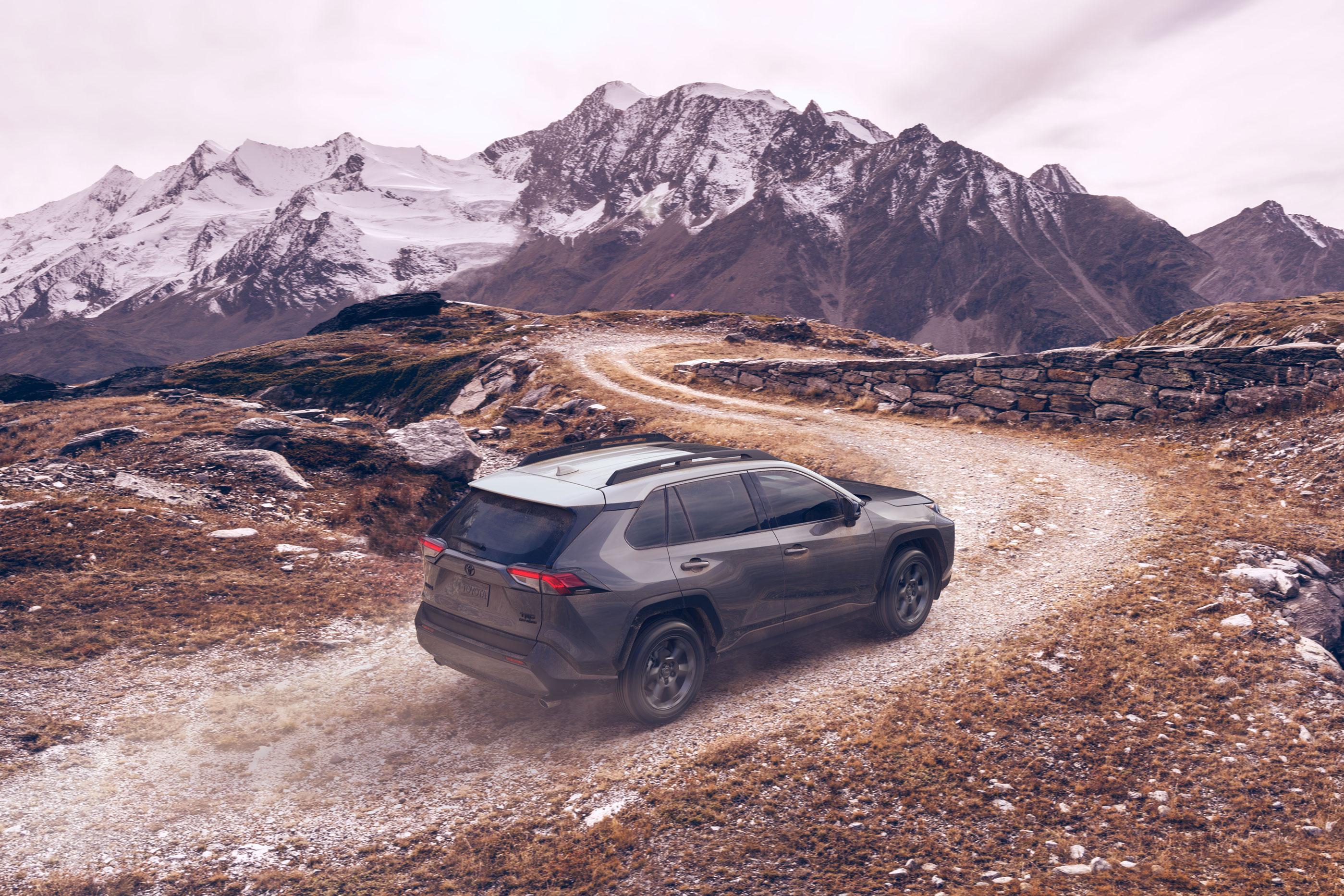 2020 Toyota RAV4 TRD Off-Road on winding mountain road