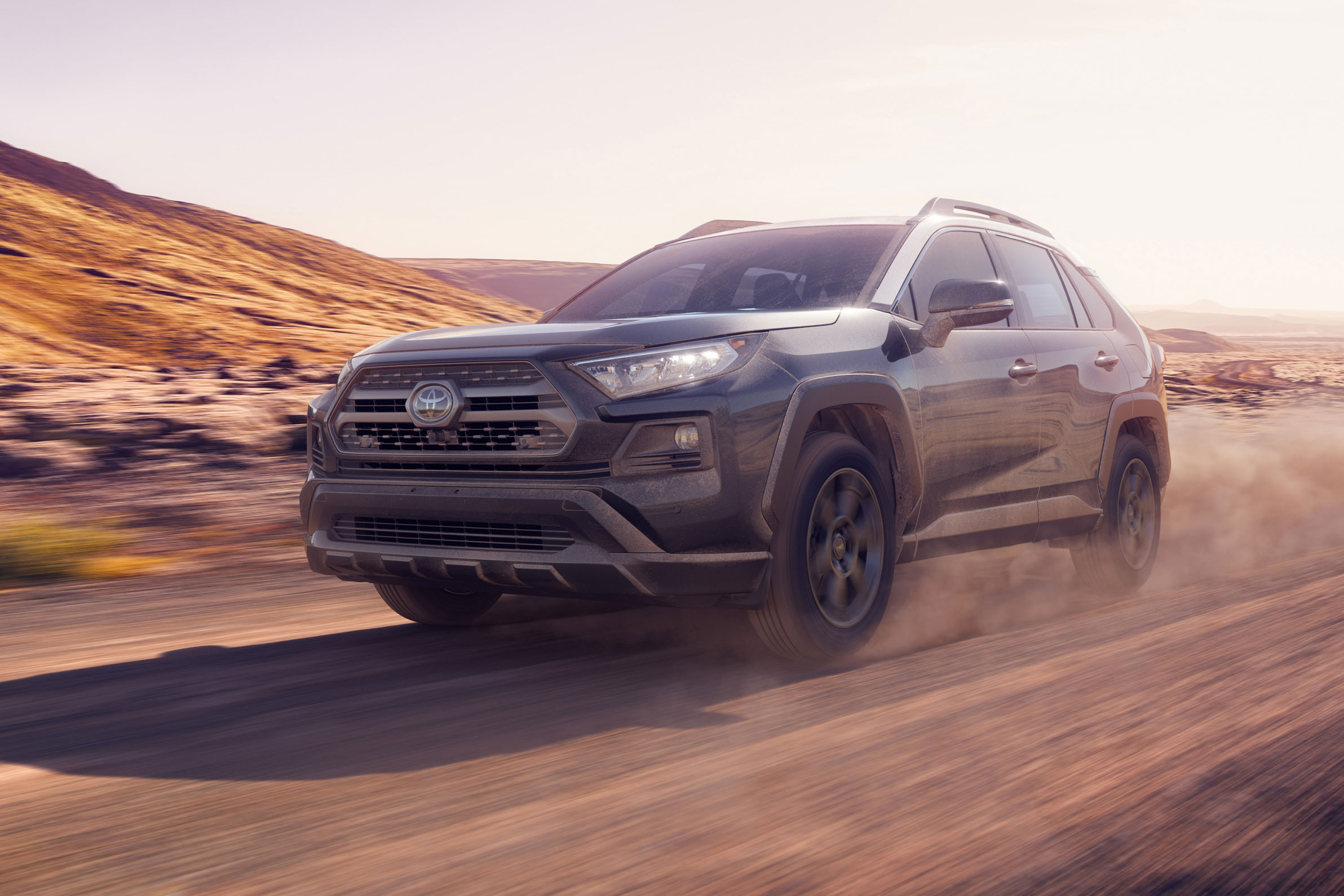 2020 Toyota RAV4 TRD Off-Road on a dirt road