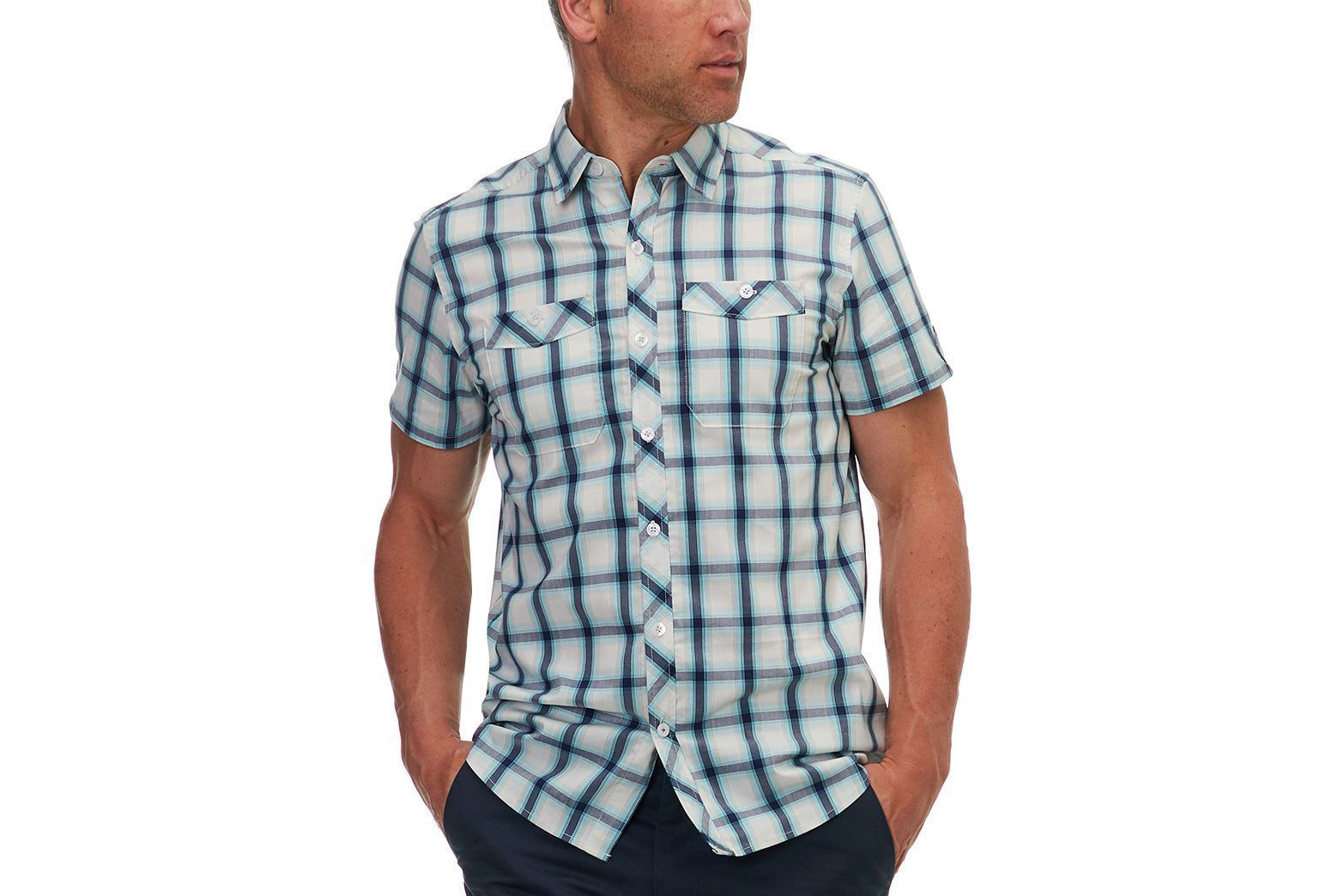 Basin and Range Kings Peak Plaid Short-Sleeve Shirt – Men's