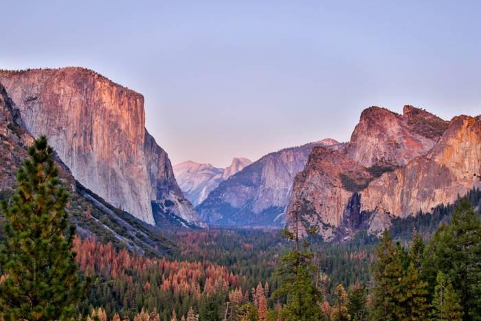 Half Dome Sunset Yosemite