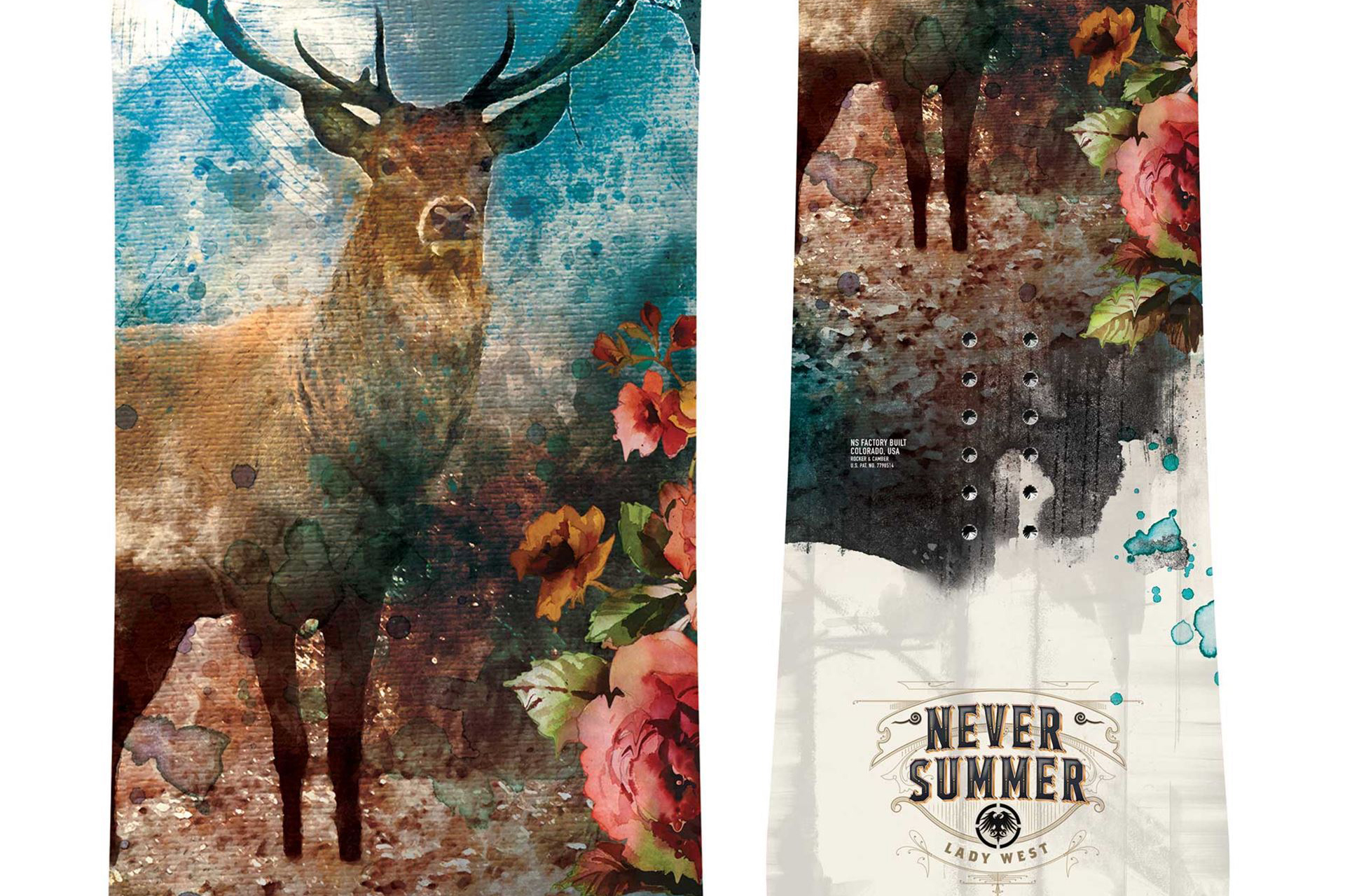 Never Summer Lady West snowboard graphics