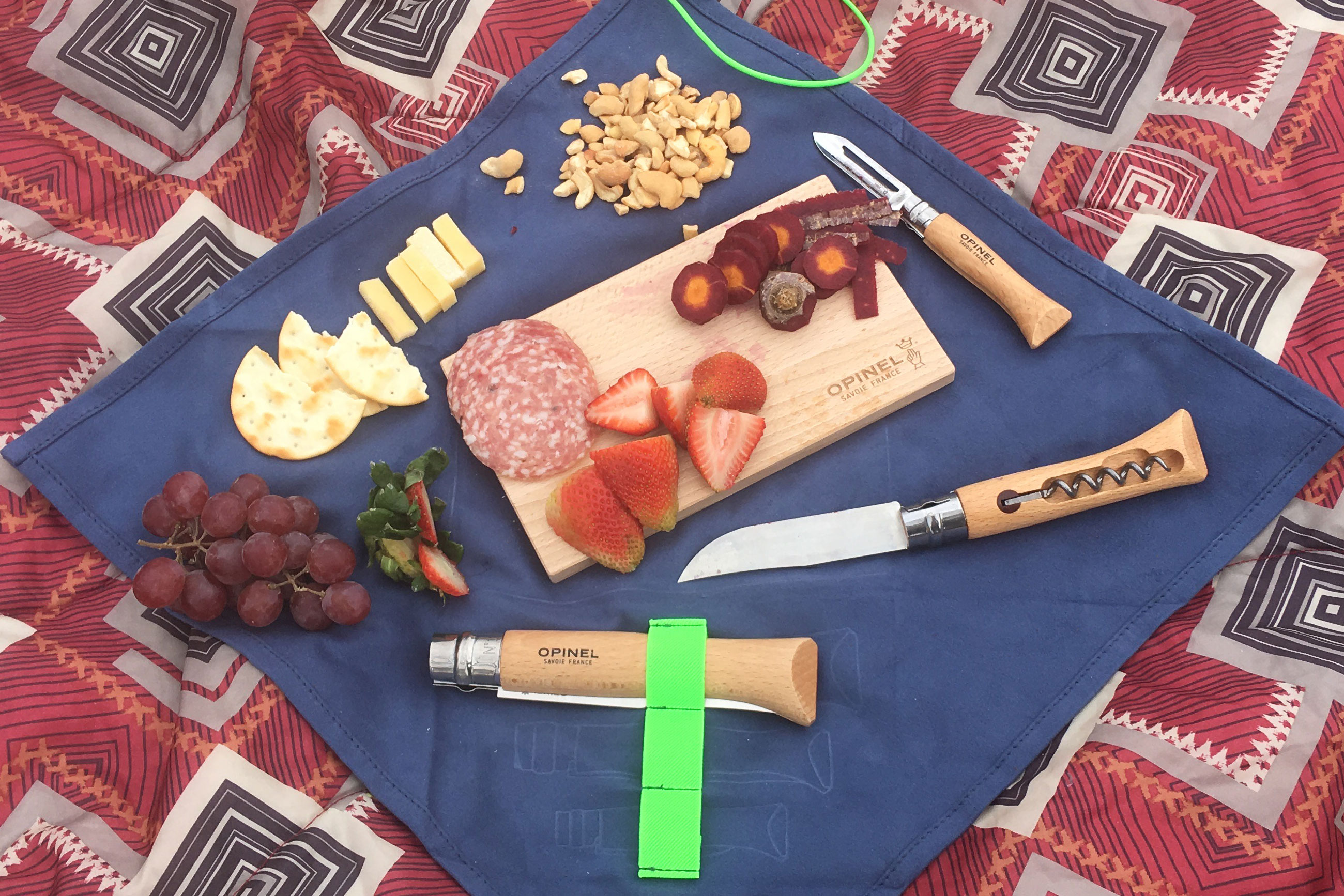 Picnic charcuterie with Opinel Nomad knife kit