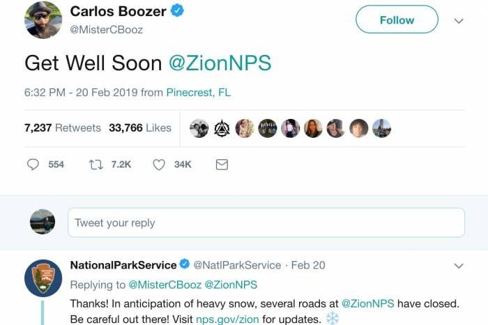 Get Well Soon, Zion: NBA Star Tweets National Park, Twitter Explodes