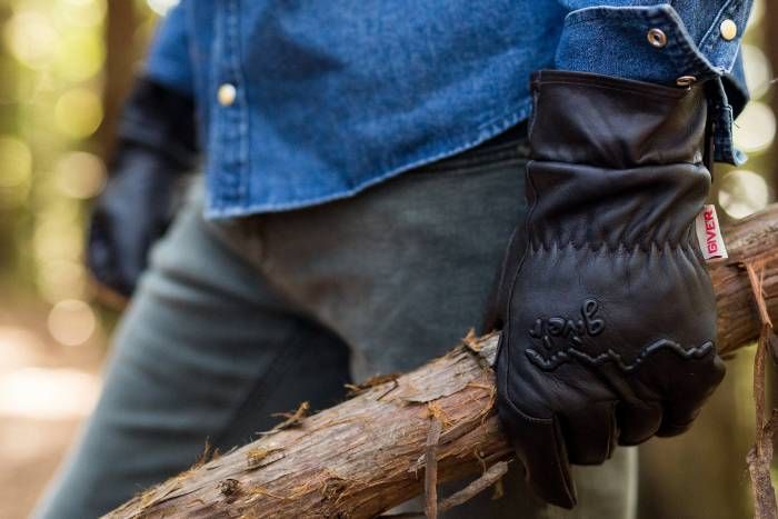 waxed leather: giver gloves