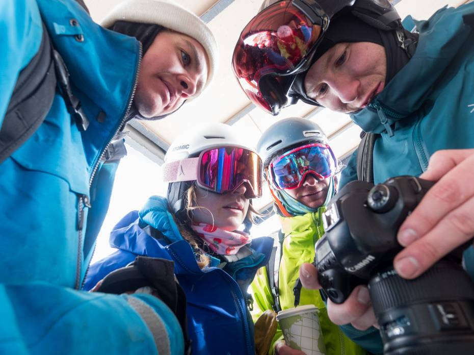 how to carry your camera while skiing