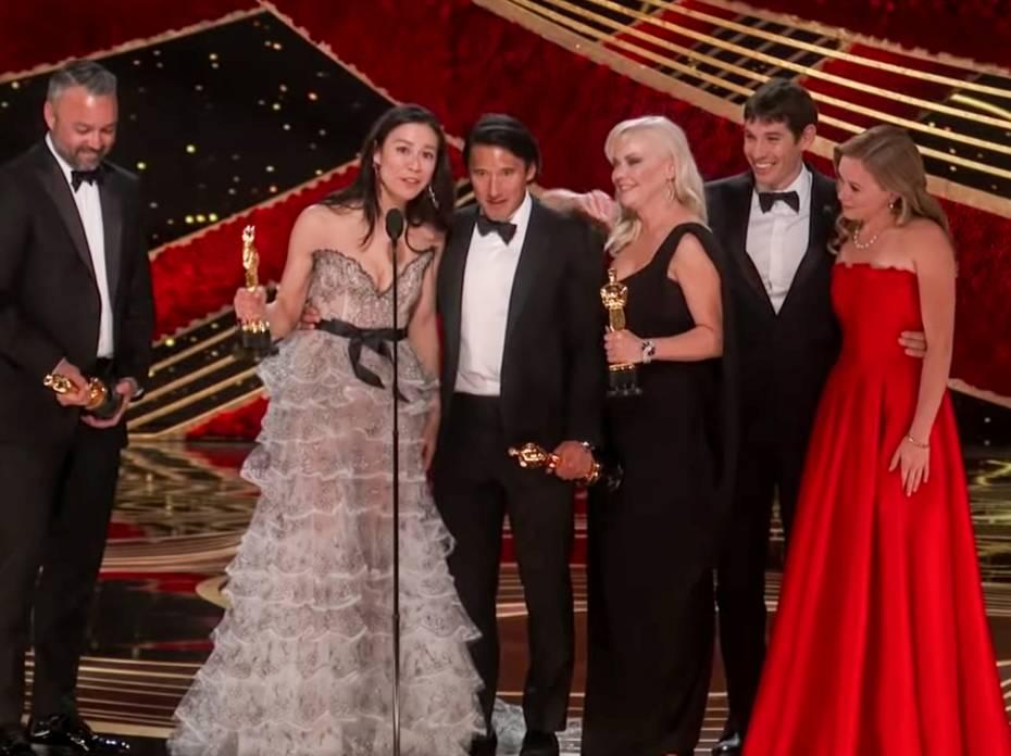 Watch: Jimmy Chin and E. Chai Vasarhelyi Oscar Speech