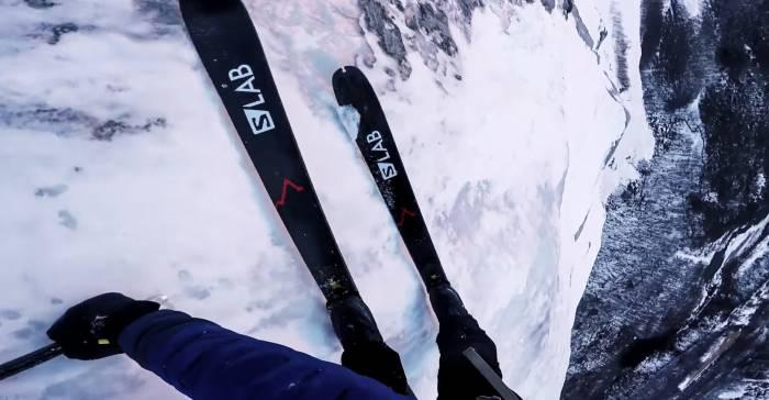 Kilian Jornet Skis Europe's Tallest Vertical Rock Face: Watch 'Troll Wall'