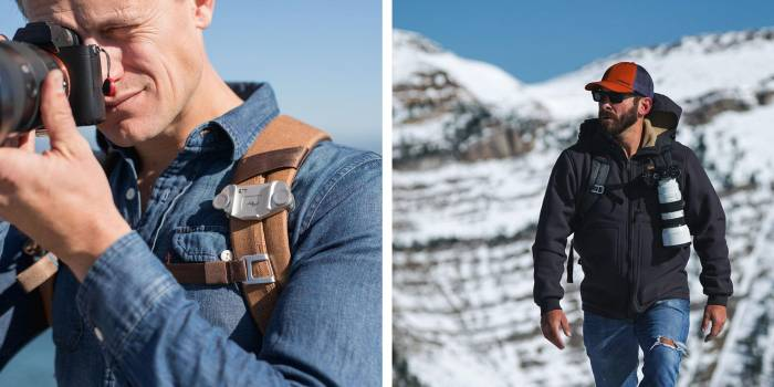 peak designs carry clip how to carry a camera while skiing