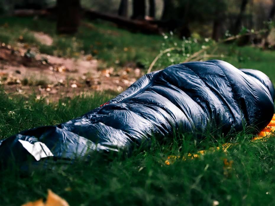 REI Magma 15 sleeping bag camping outside